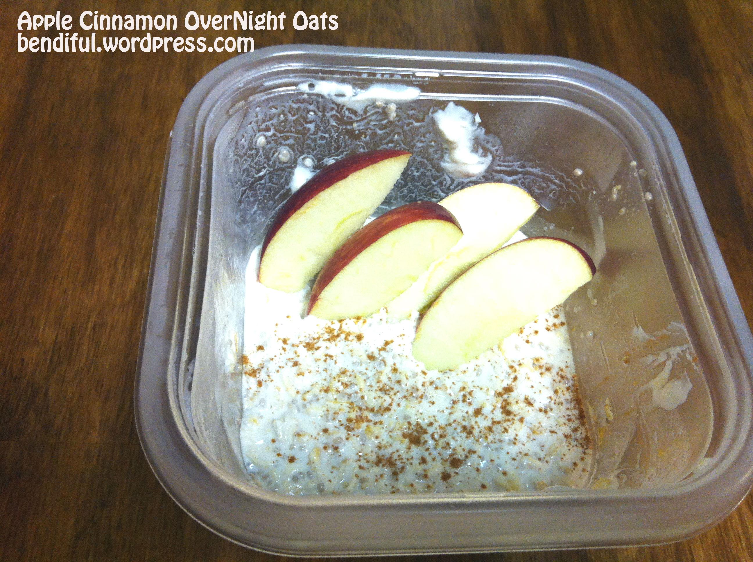 Apple Cinnamon Over Night Oats