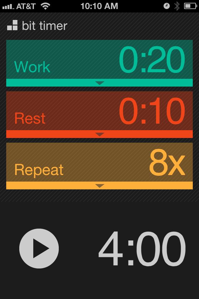 Bittimerapp, Bit timer, timer App for iphone